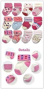 12 pairs baby socks