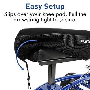 Knee Scooter Memory Foam Knee Pad Cover Easy Setup