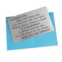 wallet card for husband