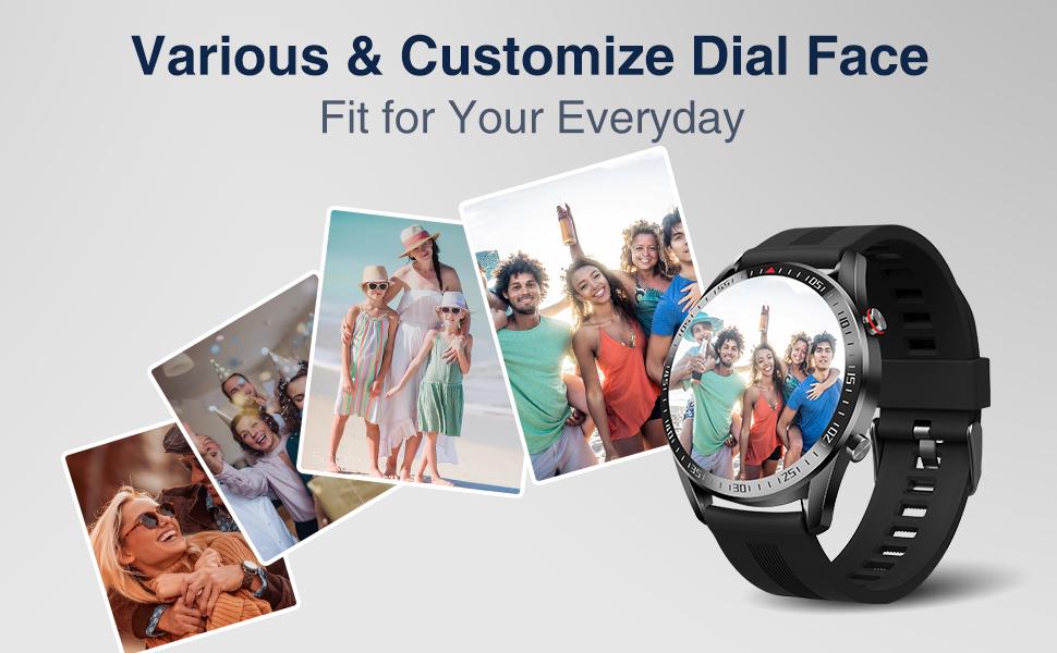 various watch face customize dial face analog watch face smart watch with alarm clock
