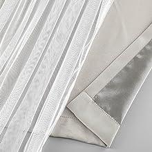 beige blackout curtain