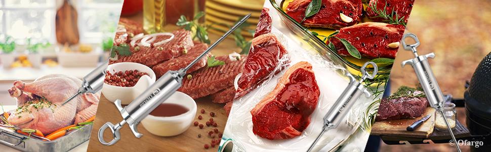 various applications for turkey roast beef steak chicken pork BBQ grill smoking