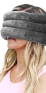 huggaroo head and sinus wrap unscented gray