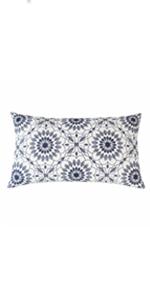 navy blue lumbar pillows
