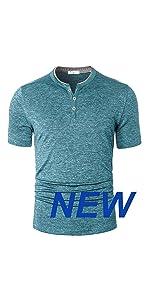 dri fit henley t shirts for men