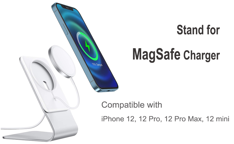 Magsafe Accessories Designed for iPhone 12 Pro Max // 12 Pro // 12 Mini // 12 OMOTON Foldable MagSafe Stand Holder for iPhone 12 Series MagSafe Charger Not Included Gray Stand for MagSafe Charger