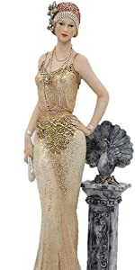 Lady Standing Leaning Figurine