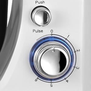 PRIXTON – Sbattitore Mixer Pasticceria con Diverse Funzioni: Impastare, Sbattere, Mescolare, Montare ed Emulsionare, Potenza 1000W, 6 diverse velocita, Accessori, Colore Bianco   KR100