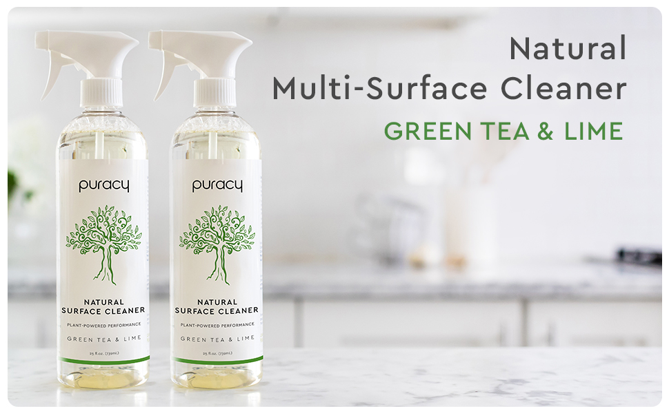 Puracy Natural Multi-Surface Cleaner - Green Tea & Lime 2pk