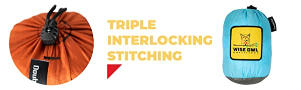 Triple Interlocking Stitching