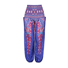 Purple Peacock Hippy Trousers