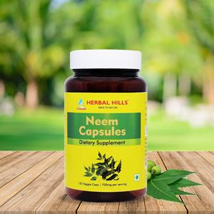 Herbal Hills Neem Capsules Neem Pills Neem Leaf Azadirachta Indica Pills Neem Supplements Nim Pills