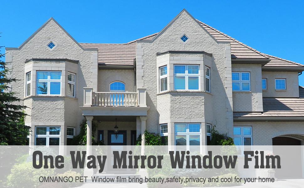 One way mirror window film