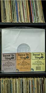 "Vinyl Record LP 12"" Inner Sleeve Poly Lined Paper Invest In Vinyl"