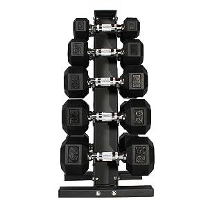 Fitness Republic Steel Dumbbell Rack 3//5 Holder