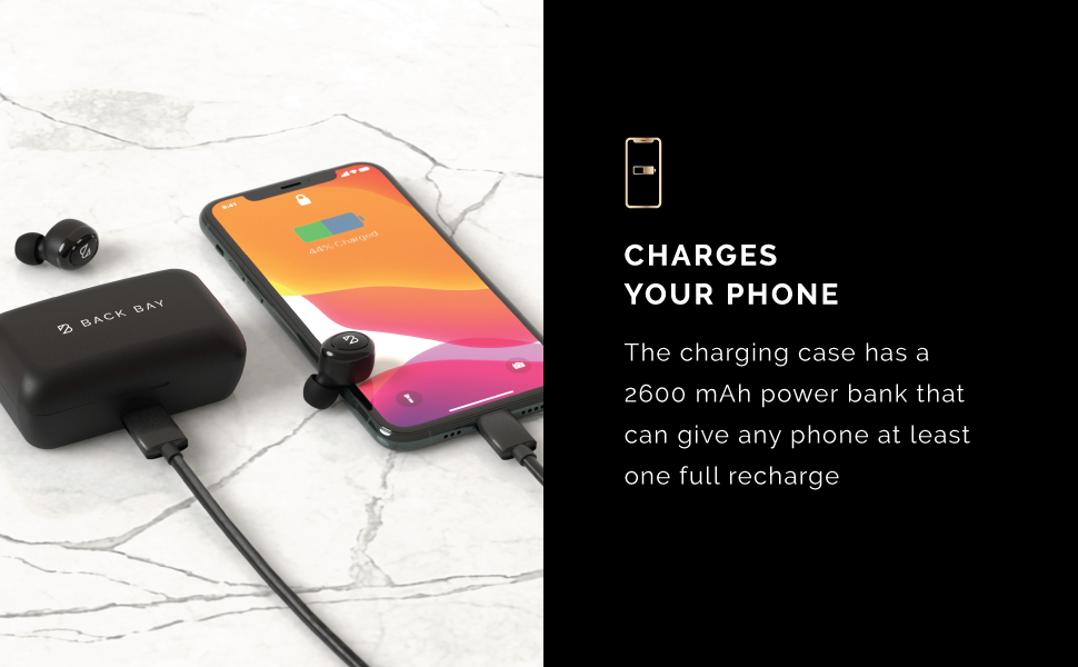 Powerbank charge cellphone iphone travel backpack portable charger case for earphones home workout
