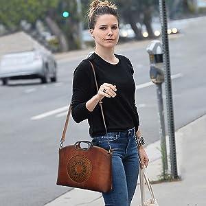 retro leather handbag