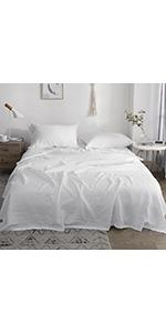 linen hemstitch sheet set