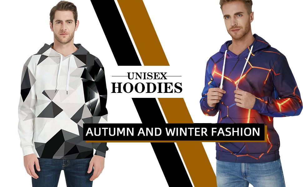 Fashion Hommes Lightning Hoodies manches longues graphique avec cordon de serrage à capuche avec poche