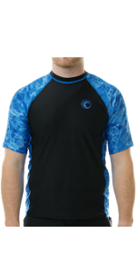 mens man short sleeves rash guard sports activewear biking hiking sun protection
