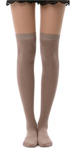 tan over knee socks