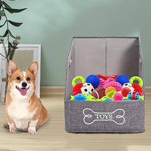 dog toy storage dog toy basket dog toy box dog storage bin dog storage pet toy basket