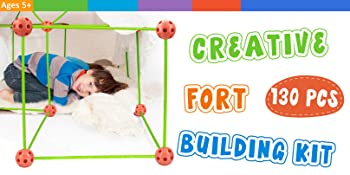 The Creative Fort Building Kits can be used both indoors and outdoors