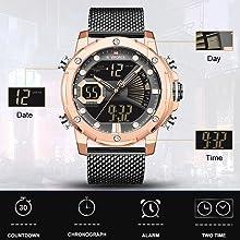 men LCD sport watch