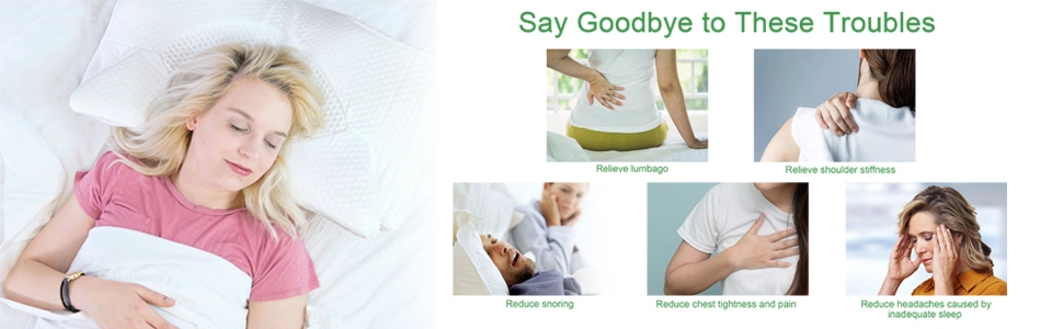 Ergonomic Orthopedic Sleeping Pillow