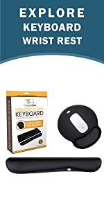 CushionCare Keyboard Wrist Rest and Mouse Pad Set
