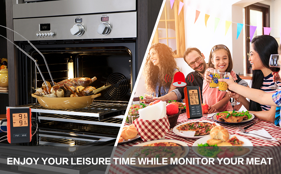 1. Enjoy Your Leisure Time While Monitor Your Meat From 328FT Away.