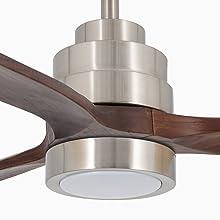 IKOHS WINDLIGHT Nickel - Ventilador de Techo con Luz, 3 Aspas ...