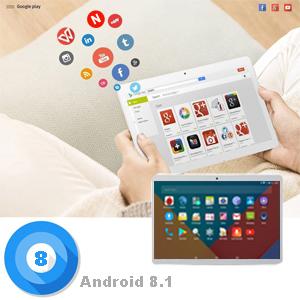 Tablets 10 Pulgadas 64GB, 3GB RAM 4G Dual SIM/WiFi Tablet con Teclado Android 8.1 8MP Cámara Google Play/Office/Netflix/GPS/OTG/Bluetooth Tablet PC ...