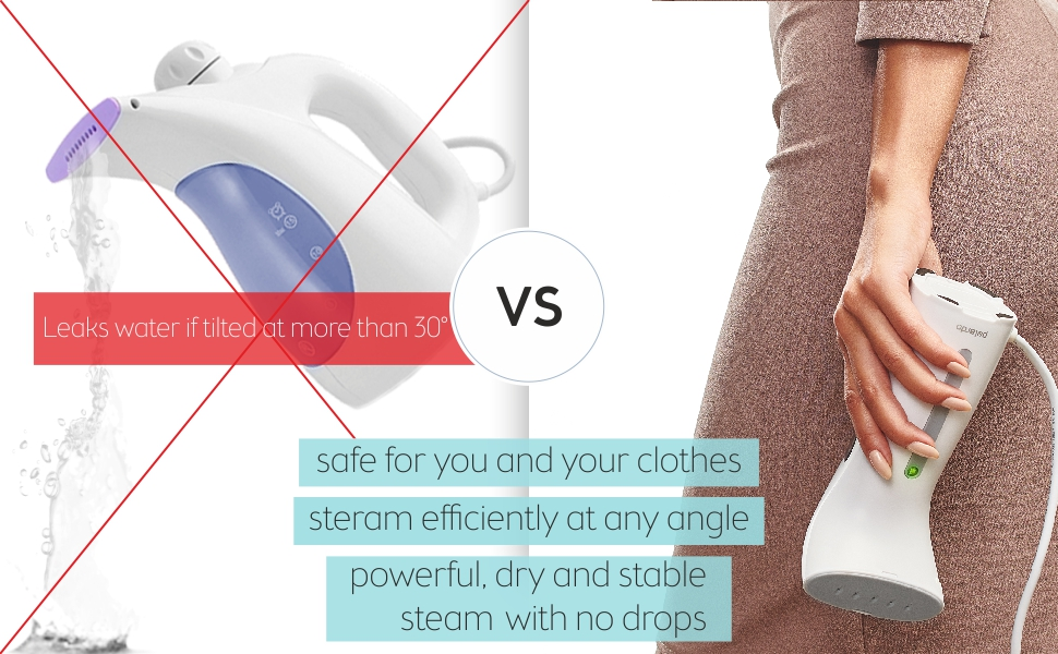 Handheld Iron Steamer Clothes Garment Travel Portable Compact Mini Small Steam Iron Remover Hand