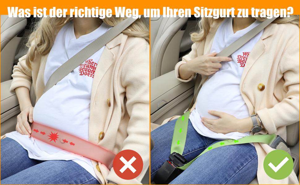 COFIT Schwangerschafts Sicherheitsgurt Mutterschafts Sicherheitsgurt f/ür die Sicherheit und den Schutz von Schwangeren und Ungeborenen beim Fahren
