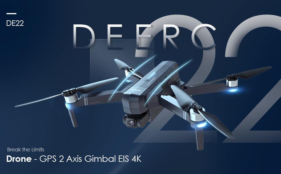 DEERC DE22 GPS Drone - Break the limits Ad