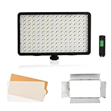 Livestreaming Video Shooting Meike MK-Y500BR 500 LED Dimmable Ultra High Power Panel Digital Camera//Camcorder Video LED Light with 1 Remote Control 2 Color Filter for YouTube Studio Photography