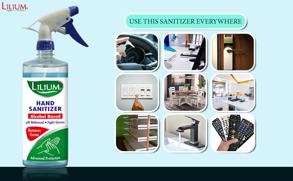 Hand Sanitizer Cleanser Rub Germs Fighter Spray