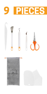 9 PCS Craft Weeding Tools