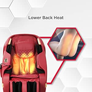 lower back heat massage chair