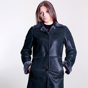 zavelio women sheepskin coat