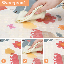 Crawling Mat Reversible Non Toxic Waterproof for Infants Toddlers