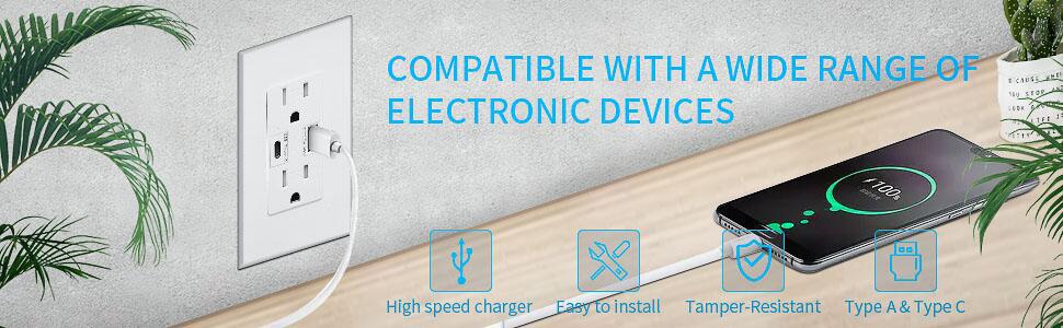 type c tamper resistant outlet