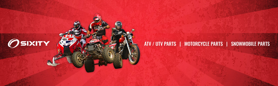 Sixity ATV, UTV, Motorcycle, and Snowmobile Parts Footer Banner.