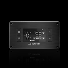 "AC Infinity AIRPLATE T8 Quiet Cooling Dual-Fan System 6"" Thermostat Control Home Theater AV Cabinet"
