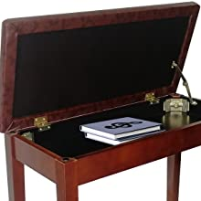 music sheet storage compartment