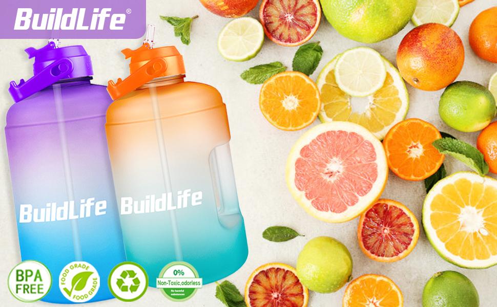 BuildLife gallon water bottle