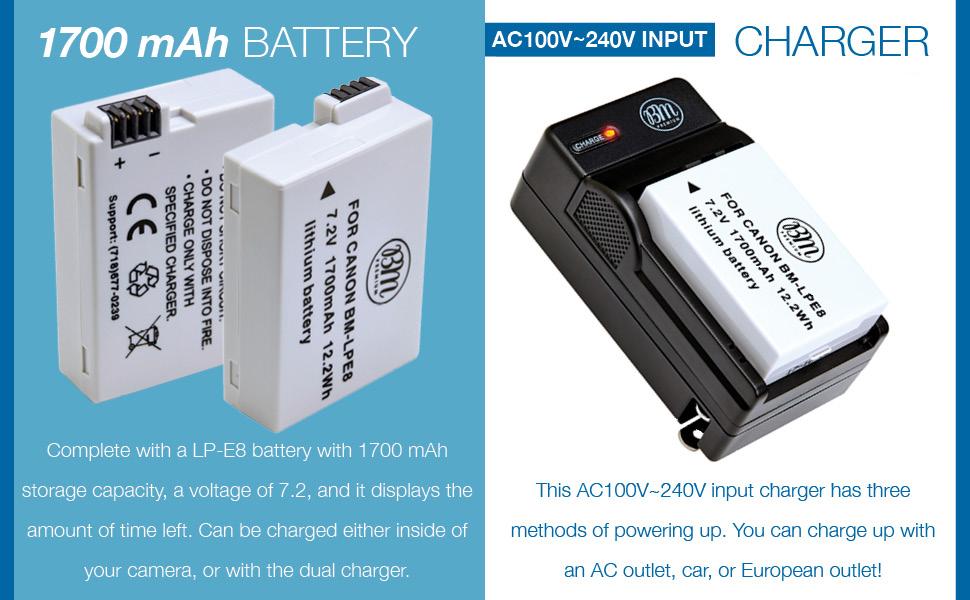 LP-E8 Batteries