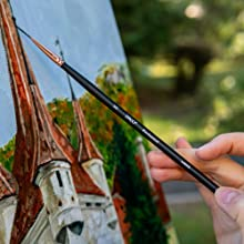 Long handled paint brushes