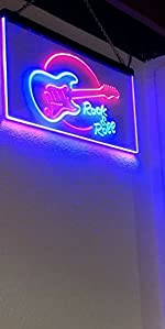 Music Fanatics Electronic Guitar Rock amp; Roll LED neon sign studio home professional decoration band